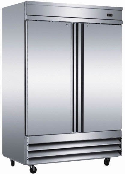 Two 2 Door Commercial Stainless Reach In Freezer CFD-2FF Restaurant Cooler