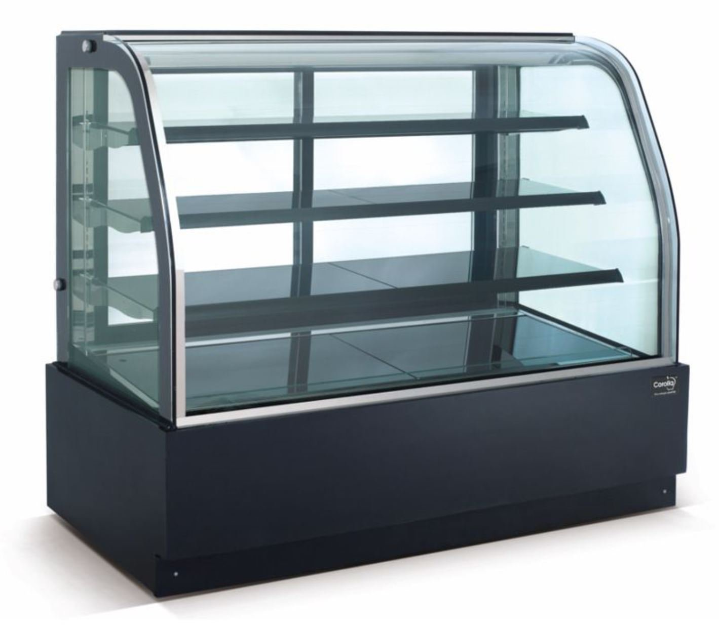 """New Curved Glass 36"""" Refrigerated Cake Display Cooler Cold Bakery Pastry Case"""