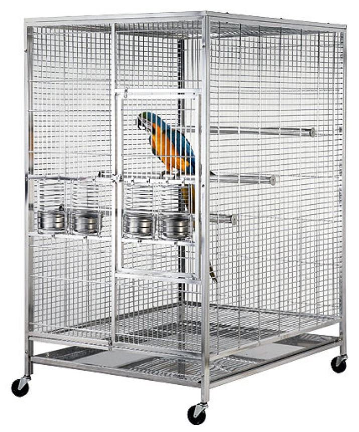 Extra Large 304 Stainless Steel Bird Parrot Macaw Cage