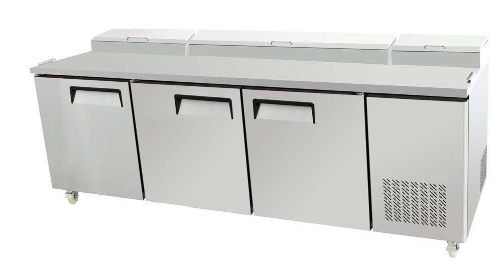 "93"" 3 Door Commercial Refrigerated Pizza Prep Table MPF-8203"