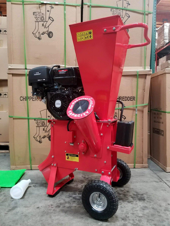 "15HP 420CC Gas Powered Wood Chipper Shredder 4"" Capacity w"