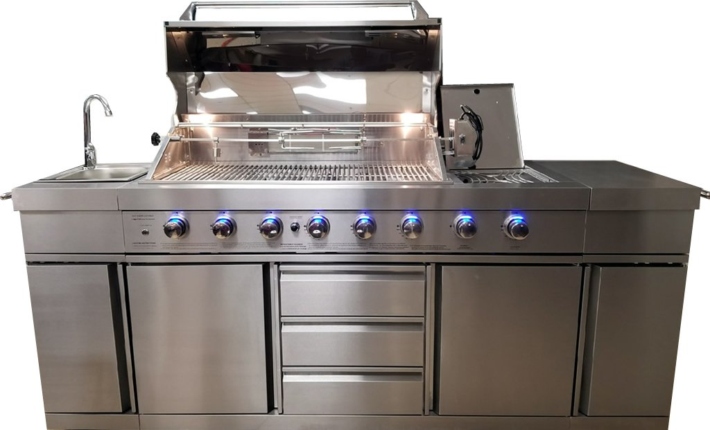 New 3 In 1 Stainless Steel Outdoor Bbq