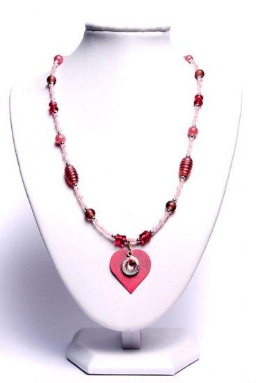 Gorgeous Pink Heart Pendant Necklace