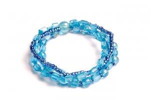 Blue Sky Glass Bracelet