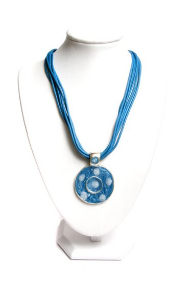 Dark Blue Pendant Necklace