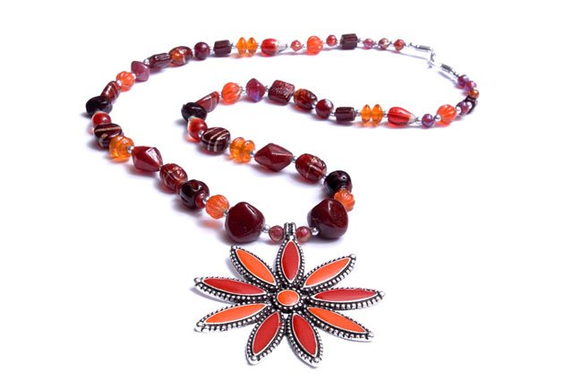 Flower Bead Necklace