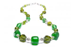 Lime Chunky Beaded Necklace