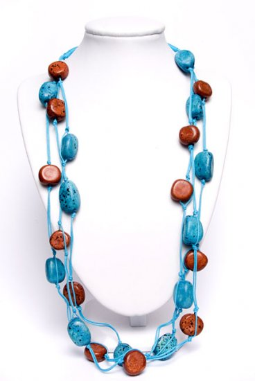 Blue and Brown Trendy Necklace