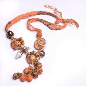 Rags to Riches Fabric Beaded Necklace