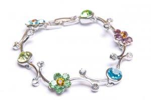 Shiny Silver Tone Bracelet