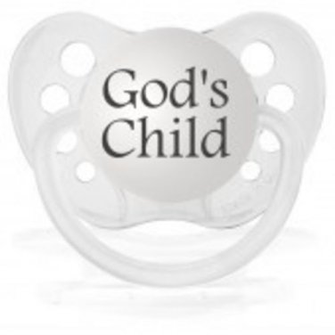 God's Child Pacifier - Clear