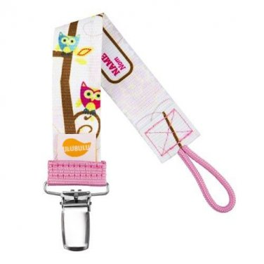 Owl Heart You Personalized Pacifier Clip - Girls