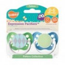 Blue Argyle & Green Chevron Pacifiers 0-6M, Unisex, Patterns Collection, Ulubulu