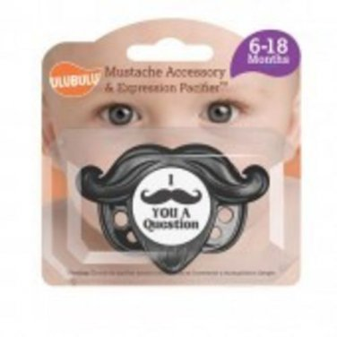 Mustache Accessory and Pacifier Set - Black 6-18M