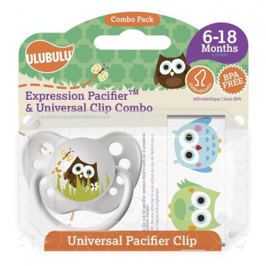 Owl Pacifier and Universal Clip Combo 6-18M