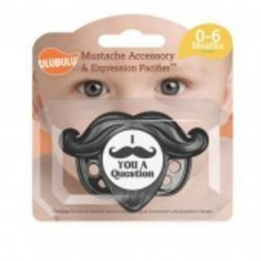 Mustache Accessory and Pacifier Set - Black 0-6M