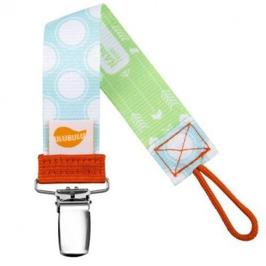 Blue Polka Dot Personalized Pacifier Clip - Blue, Boys