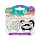 Momma's Boy & Mustache Pacifiers- 6-18M, Boys, Expressions Collection, Ulubulu