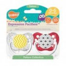 Yellow Chevron & Gray Moroccan Pacifiers - 0-6M, Unisex, Patterns Collection