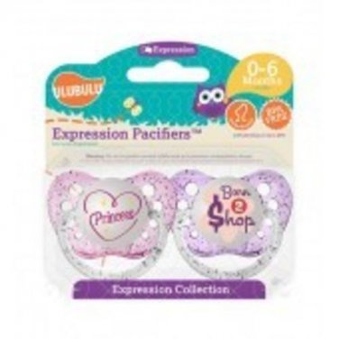 Princess & Born to Shop Pacifiers 0-6M, Girls, Expression Collection, Ulubulu