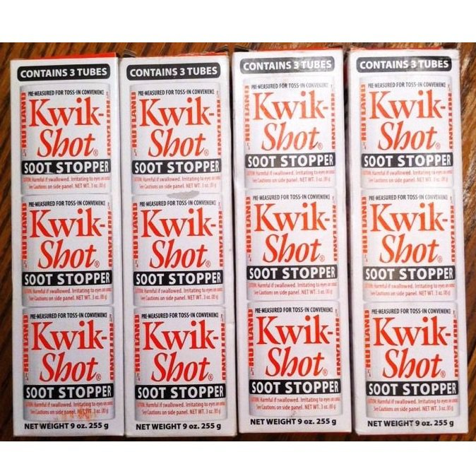 Kwik-Shot Soot Stopper Cleaner - Fireplace & Chimney - Lot 4 packs (12 Tubes)