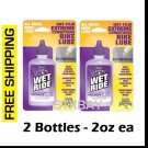 White Lightning Wet Ride for Bicycle Bike Chain - (2) 2 fl oz Bottle - 4oz Total - Bike Lube