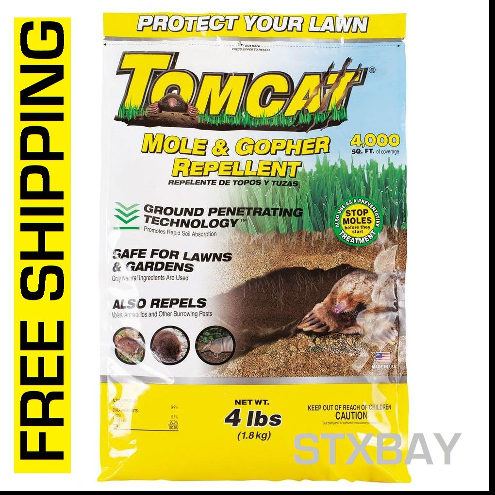 Tomcat Mole and Gopher Repellent Granules 4LBS For Lawns & Gardens - BL34784