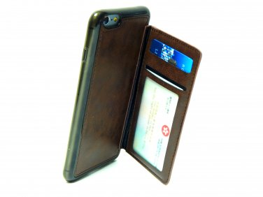 Advenplus Card Holder iPhone 6/6S plus Protection Case (Brown)