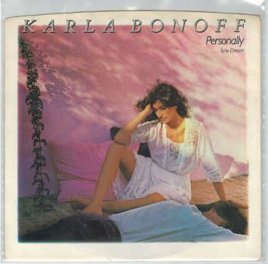 Karla Bonoff - Personally 45 RPM Record + PICTURE SLEEVE
