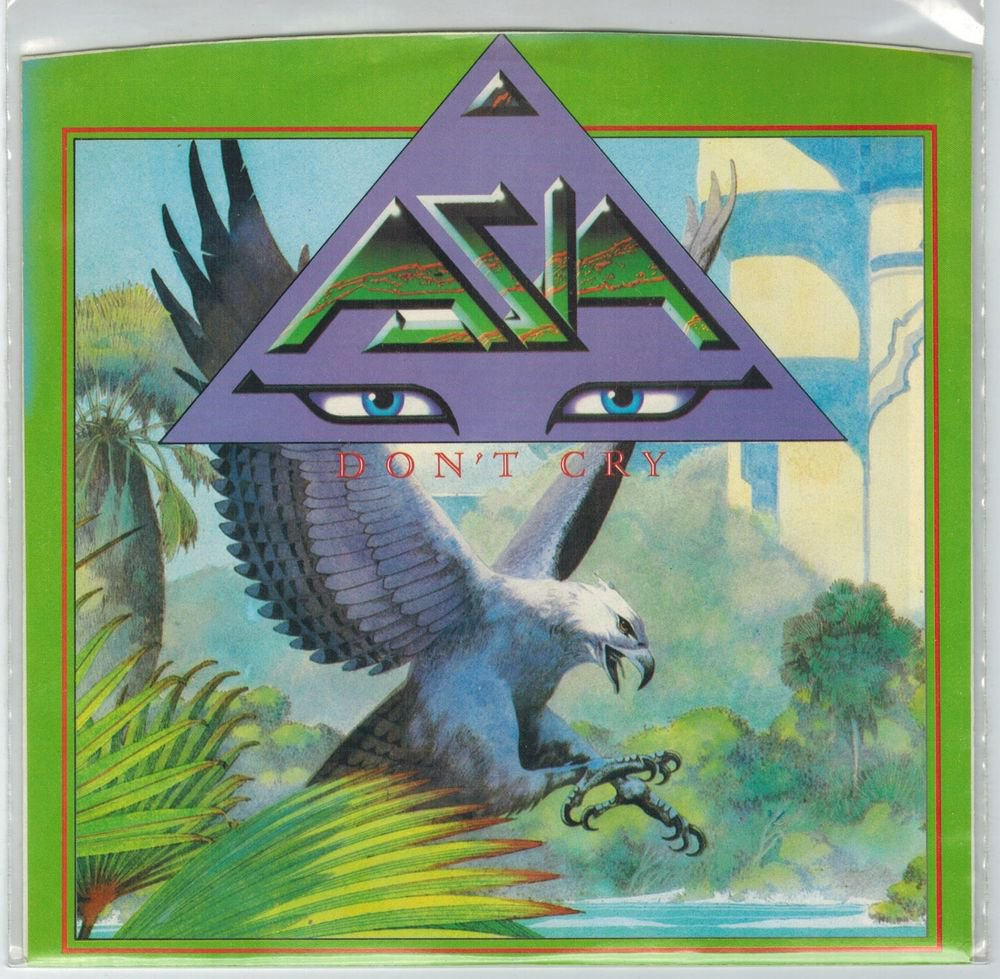 Asia - Don't Cry 45 RPM Record + PICTURE SLEEVE