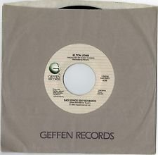 Elton John - Sad Songs (Say So Much) 45 RPM RECORD