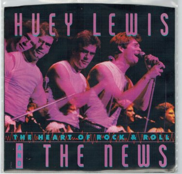 Huey Lewis & The News - The Heart Of Rock & Roll 45 RPM Record + PICTURE SLEEVE
