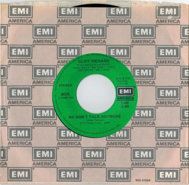 Cliff Richard - We Don't Talk Anymore 45 RPM RECORD