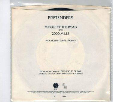 Pretenders - Middle Of The Road 45 RPM Record + PICTURE SLEEVE