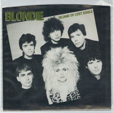 Blondie - Island Of Lost Souls 45 RPM Record + PICTURE SLEEVE