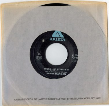 Barry Manilow - Looks Like We Made It 45 RPM RECORD