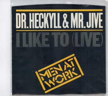 Men At Work - Dr. Heckyll & Mr. Jive 45 RPM Record + PICTURE SLEEVE