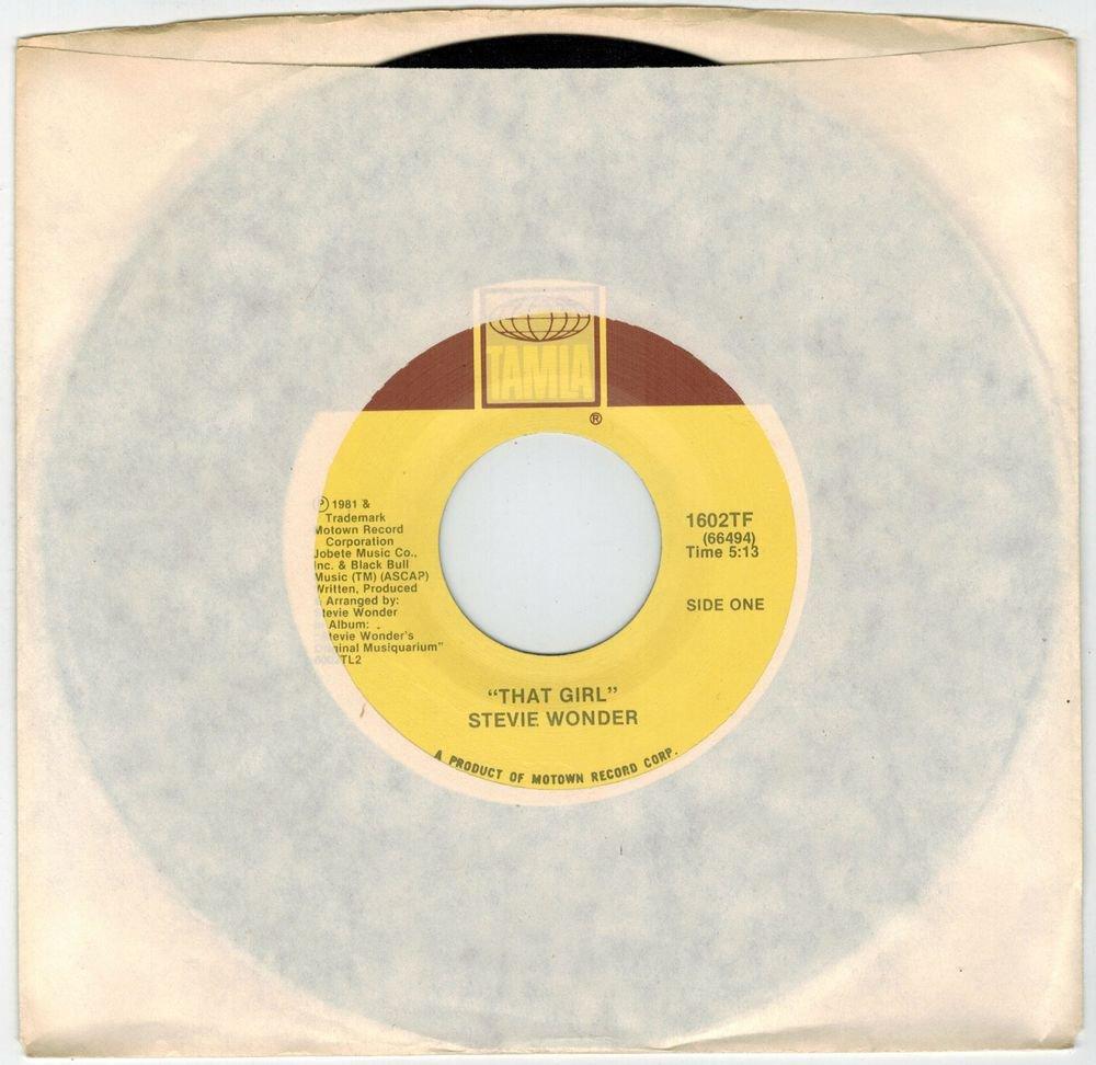 Stevie Wonder - That Girl 45 RPM RECORD