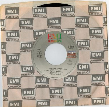 Sheena Easton - When He Shines 45 RPM RECORD