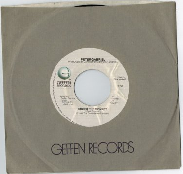 Peter Gabriel - Shock The Monkey 45 RPM RECORD