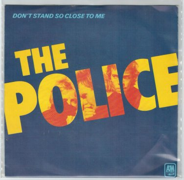 Police - Don't Stand So Close To Me 45 RPM RECORD + PICTURE SLEEVE ITALY IMPORT