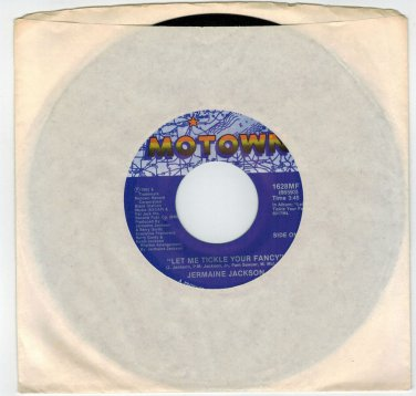 Jermaine Jackson - Let Me Tickle Your Fancy 45 RPM RECORD