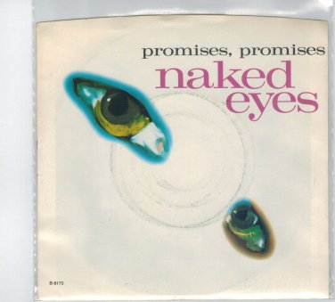 Naked Eyes - Promises Promises 45 RPM Record + PICTURE SLEEVE