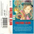 Culture Club Colour By Numbers AUDIO CASSETTE 1983