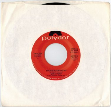 Mike Post - The Rockford Files 45 RPM RECORD