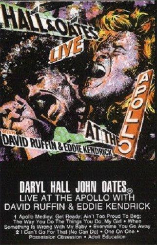 Daryl Hall & John Oates Live At The Apollo AUDIO CASSETTE David Ruffin