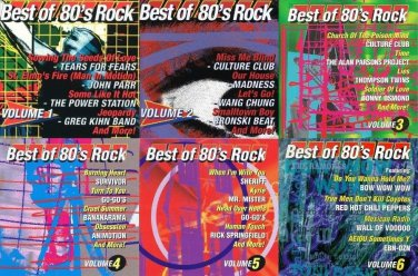 Best Of 80's Rock 6 CD LOT Priority Records
