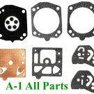 Carburetor Carb Kit Walbro D10-HDA D2 D20 D22 Gaskets Diaphragms Overhaul Parts