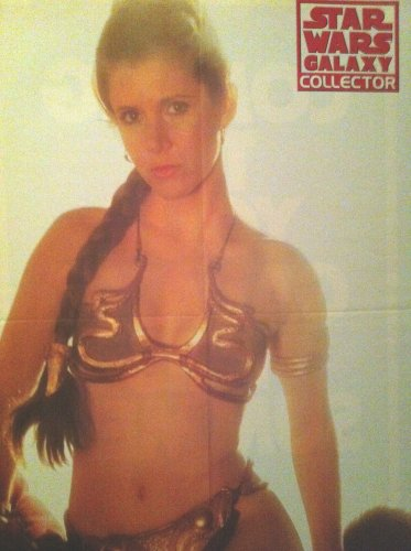 LEIA IN SLAVE OUTFIT PINUP POSTER STAR WARS GALAXY