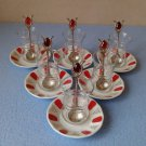 (SET OF 6)Turkish Traditional Tea Serving Set Glasses,Saucers,Spoons